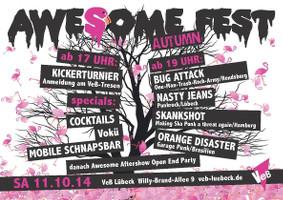 Awesome-Autmn-Fest im VeB / Lübeck am 11.10.2014