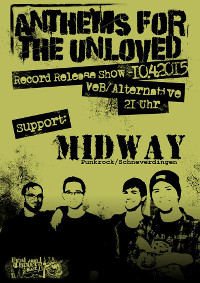 Anthems for the Unloved-Plattenreleaseparty am 10.4.15 im VeB Lübeck