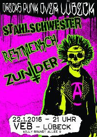 Punk im Veb Lübeck am 22.1.16