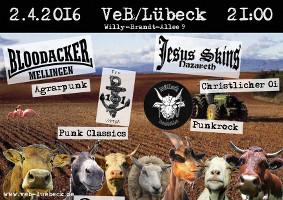 Punk und Oi! im Veb Lübeck am 2.4.16