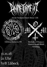 Death Metal und HardCore im VeB Lübeck am 11.11.16