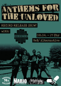 Platten-Release-Party von Anthems for the Unloved im VeB Lübeck am 8.4.17