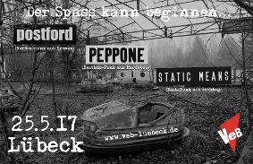 Postford, Static Means und Peppone im VeB Lübeck am 25.5.17