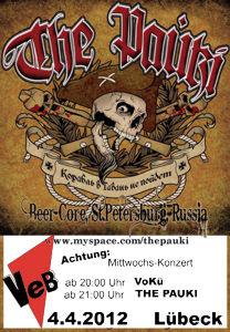 Punk-Konzert im VeB / Lübeck am 4.04.2012