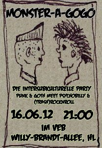 Intersubkulturelle Party im VeB / Lübeck am 16.06.2012