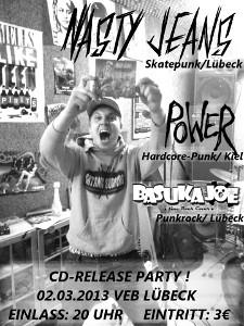 CD-Release-Party von Nasty Jeans im VeB / Lübeck am 02.3.2013