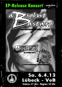 CD-Release-Party von Absolut Bastard im VeB / Lübeck am 6.4.2013