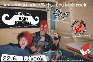 Deutschpunk statt Deutschrock live im VeB / Lübeck am 22.6.2013