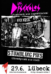Punk-Konzert mit LOS DISCKOLOS (ARG) und THE STUMBLING PINS im VeB / Lübeck am 29.6.2013