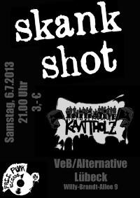 Skankshot und Initiative Kantholz live im VeB / Lübeck am 6.7.2013