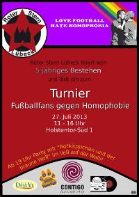 Roter Stern Lübeck-PARTY + Rotkäppchen und der braune Wolf im VeB / Lübeck am 27.7.2013