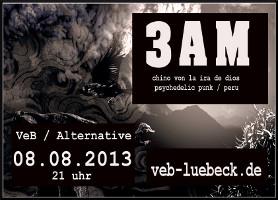 VoKü und 3AM (Peru) live im VeB / Lübeck am 8.8.2013
