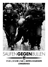 Saufen gegen Bullen im VeB / Lübeck am 17.1.2014