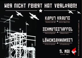 Kaput Krauts und LZA-LöwenZahnAngst im Veb Lübeck am 9.5.15