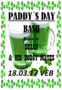 Paddys Day-Bash mit Brian & Friends live im VeB Lübeck am 18.3.17
