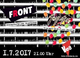 FRONT und TOYLETTES im VeB Lübeck am 1.7.17
