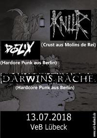 Crust/HC-Punk im VeB Lübeck am 13.7.18